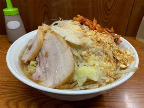 ラーメン二郎 亀戸店 『大汁なし タマネギキムチ』