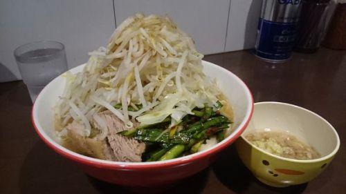 [85点] 大・辛ニラ・別皿アブラ(ヤサイマシマシカラメ)¥1000@ラーメン ゼンゼン